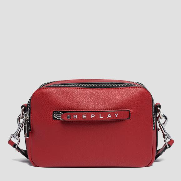 Logoed zipper puller shoulder bag - Replay FW3842_000_A0132D_243_1