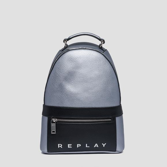 Hammered eco-leather backpack - Replay FW3844_000_A0132D_056_1