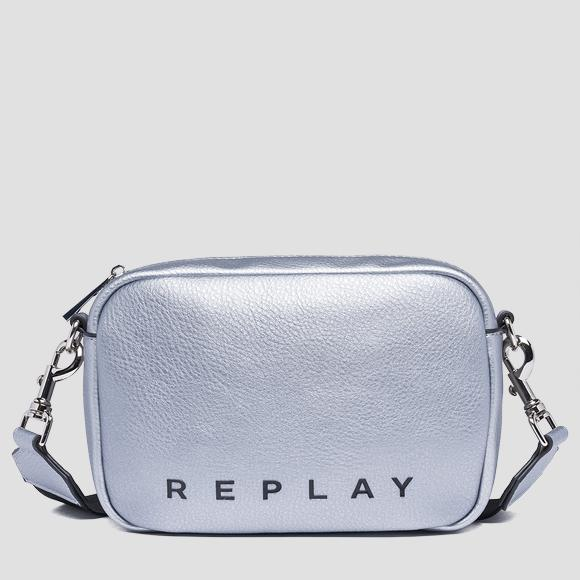 Shoulder bag with logoed ribbon - Replay FW3847_000_A0132D_056_1