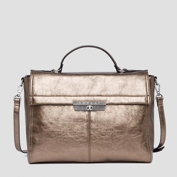 Handbag in laminated eco-leather - Replay FW3860_001_A0391_227_1