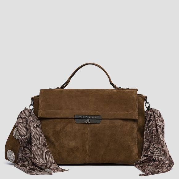 Suede shoulder bag - Replay FW3860_007_A3154_059_1