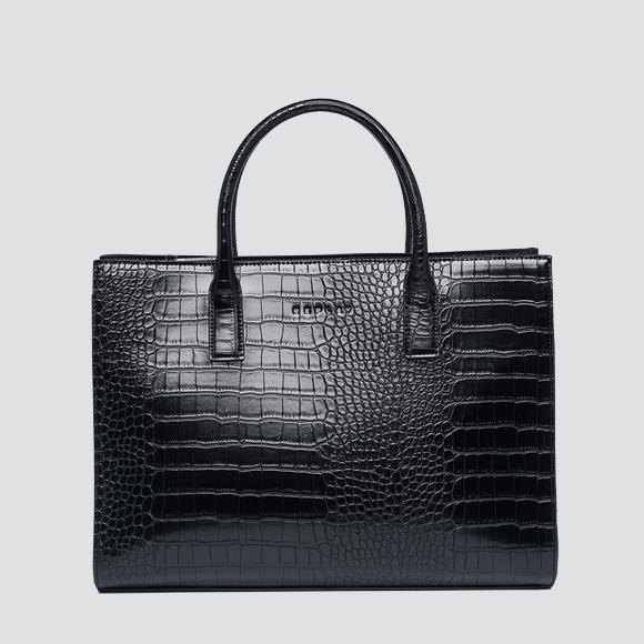 Shopper bag with crocodile effect - Replay FW3887_000_A0292D_098_1
