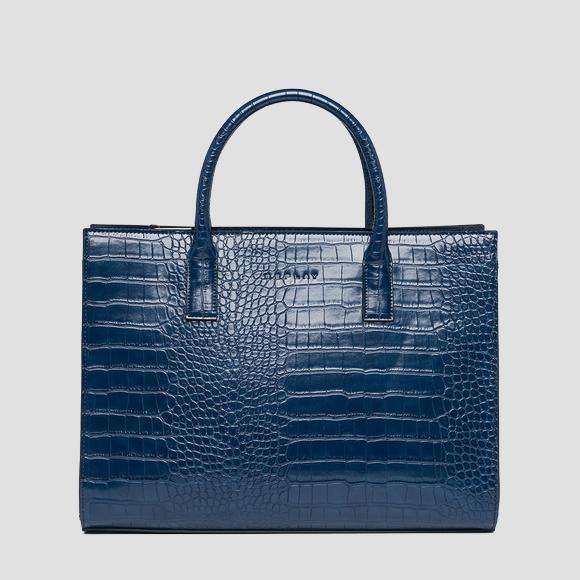 Shopper bag with crocodile effect - Replay FW3887_000_A0292D_512_1