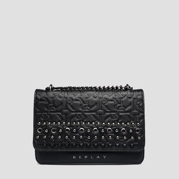Eco-leather shoulder bag with studs - Replay FW3910_003_A0362B_098_1