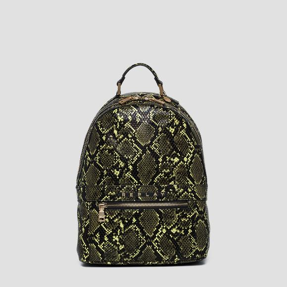 Backpack with shiny python print - Replay FW3915_000_A0247E_394_1
