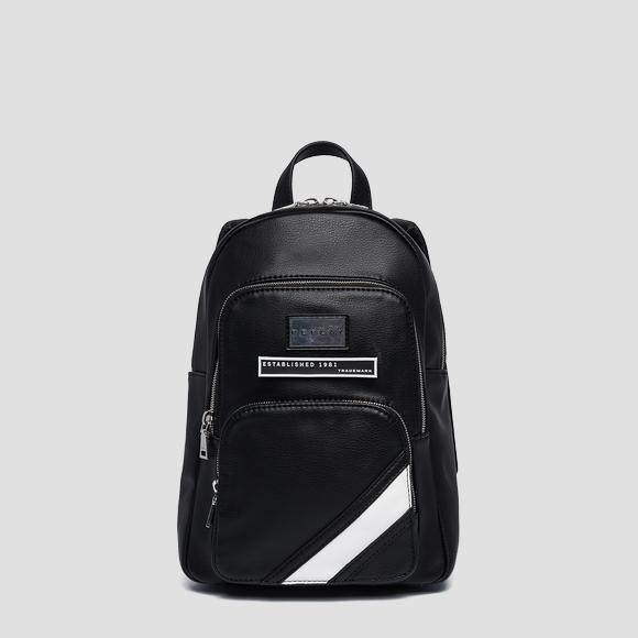Eco-leather backpack with zipped pockets - Replay FW3923_000_A0363B_098_1