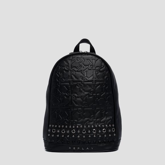 Eco-leather backpack with studs - Replay FW3937_000_A0362B_098_1