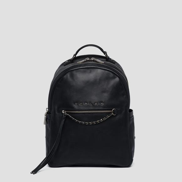 Leather backpack with chain - Replay FW3954_000_A3127C_098_1