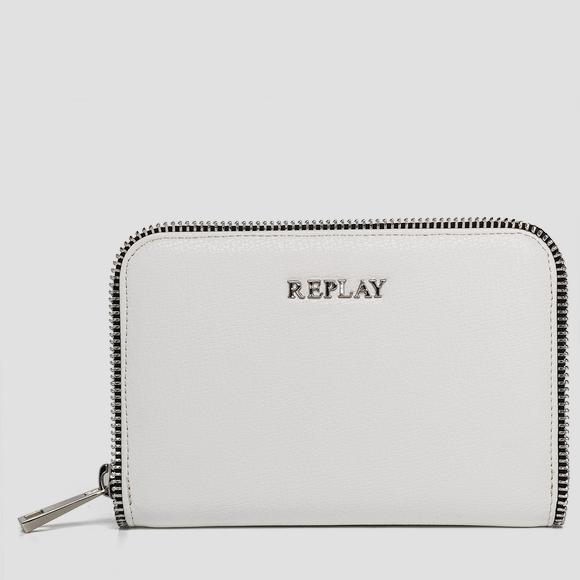 Saffiano faux leather wallet with logo - Replay FW5142_000_A0283_001_1