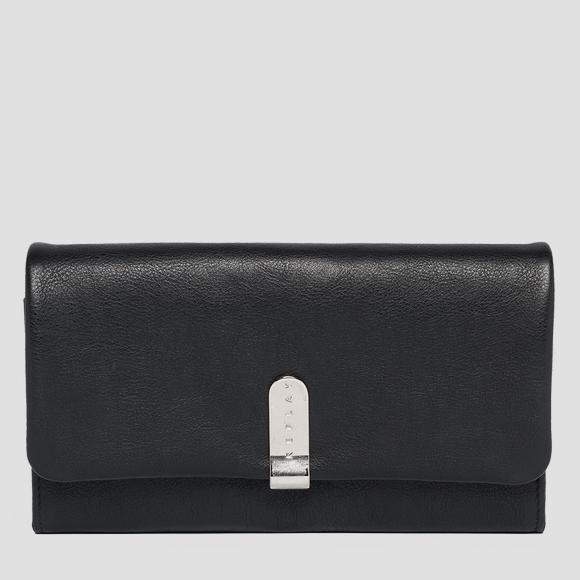 Grained leather wallet - Replay FW5219_000_A3146_098_1