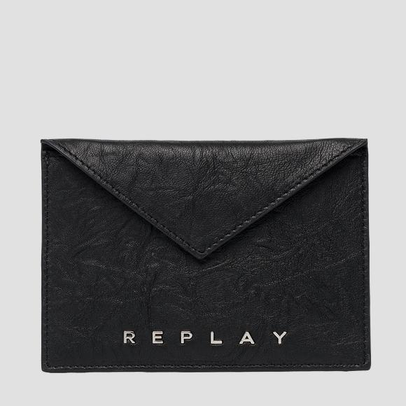 Card holder in crinkle nappa leather - Replay FW5245_000_A3174_098_1