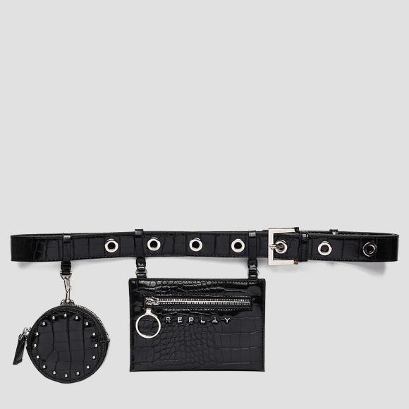 Belt with croc print and coin pouch - Replay FW5271_000_A0292F_098_1