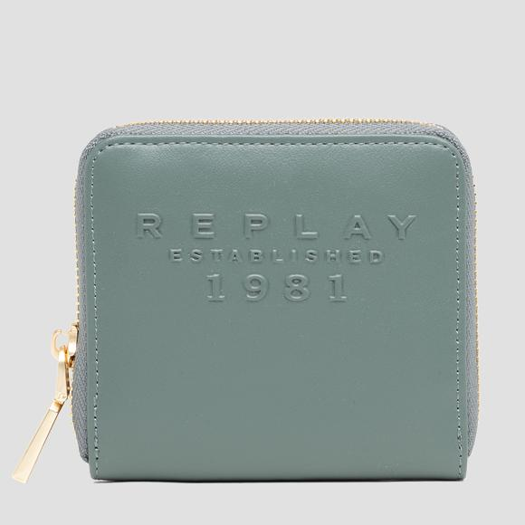 REPLAY ESTABLISHED 1981 wallet with zipper - Replay FW5281_001_A0365B_355_1