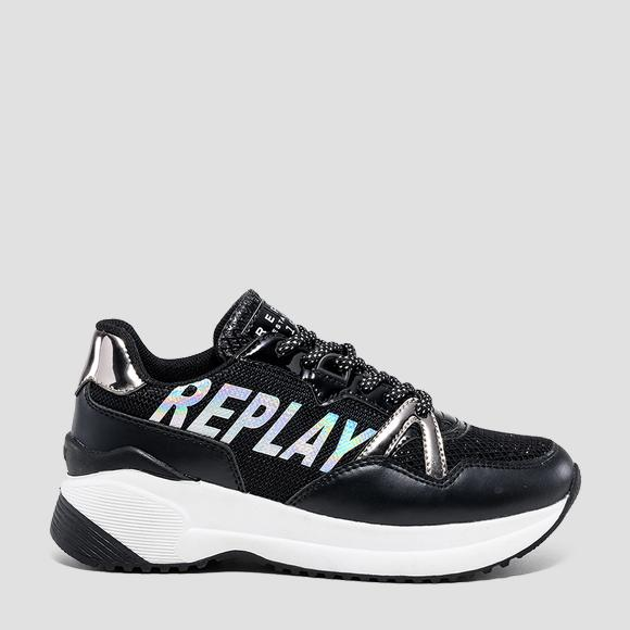 Girls' SOLAR lace up sneakers- REPLAY&SONS GBS24_000_C0026S_003_1