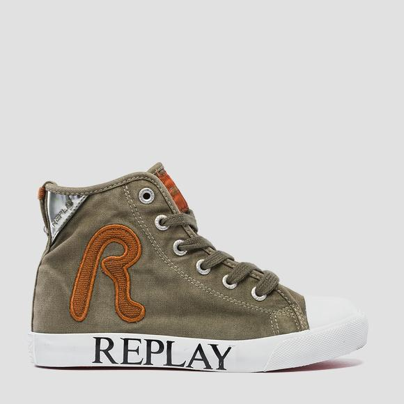 Boys' GAMBIER mid cut sneakers- REPLAY&SONS GBV08_000_C0113T_1653_1