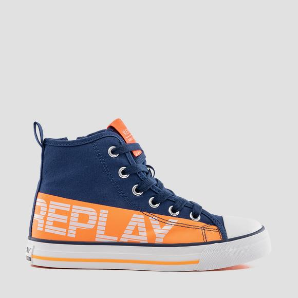 Boys' CALAFAT lace up mid cut sneakers- REPLAY&SONS GBV24_000_C0001T_2534_1