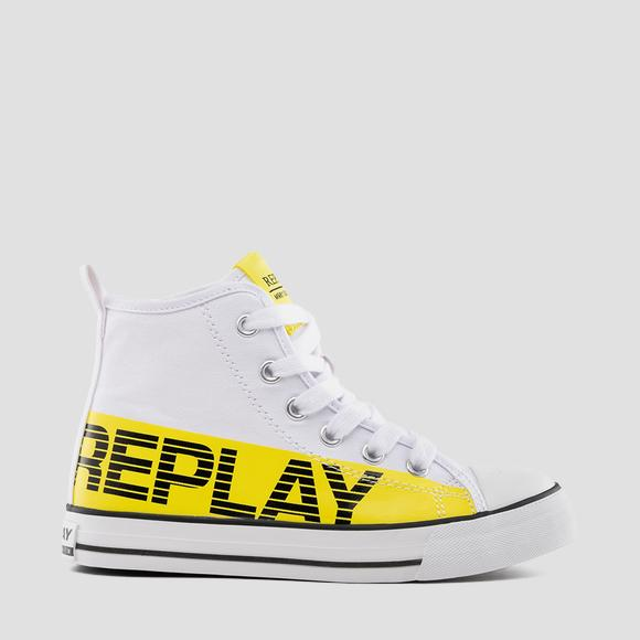 Boys' CALAFAT lace up mid cut sneakers- REPLAY&SONS GBV24_000_C0001T_2657_1