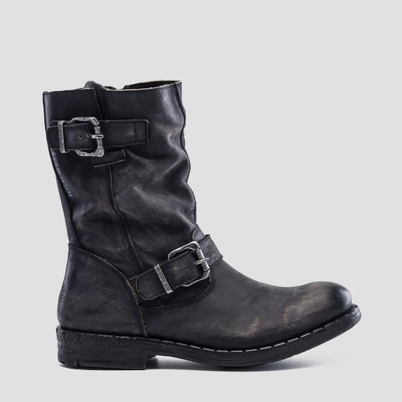 Men's MAXWELL leather high boots - Replay GMC41_000_C0019L_003_1
