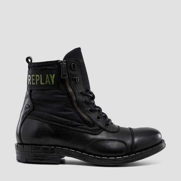 Men's DRUID lace up leather ankle boots - Replay GMC41_000_C0039L_2926_1