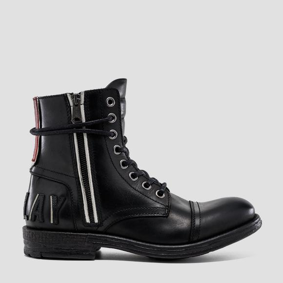 Men's BLACKBIRD lace up leather ankle boots - Replay GMC41_000_C0041L_003_1