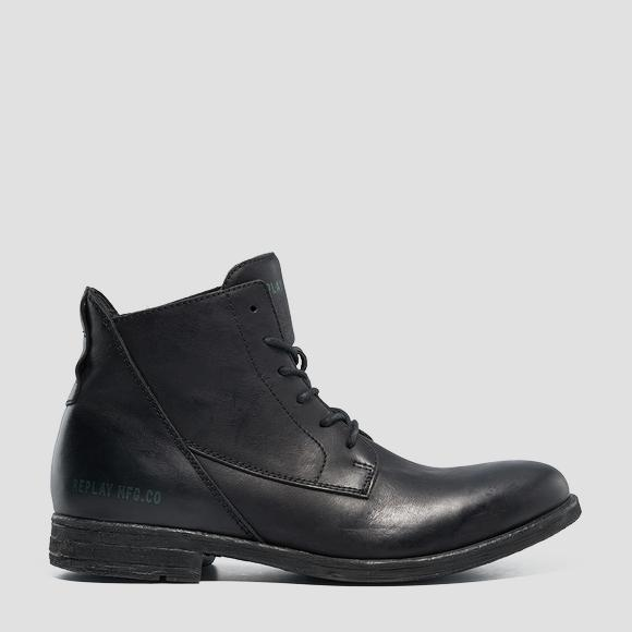Men's GUNHILL leather mid boots - Replay GMC84_000_C0005L_003_1