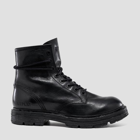 Men's COWAN lace up leather ankle boots - Replay GMC88_000_C0001L_003_1