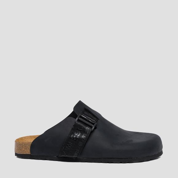 Men's INTERBAY leather mules - Replay GMF2E_000_C0001L_003_1