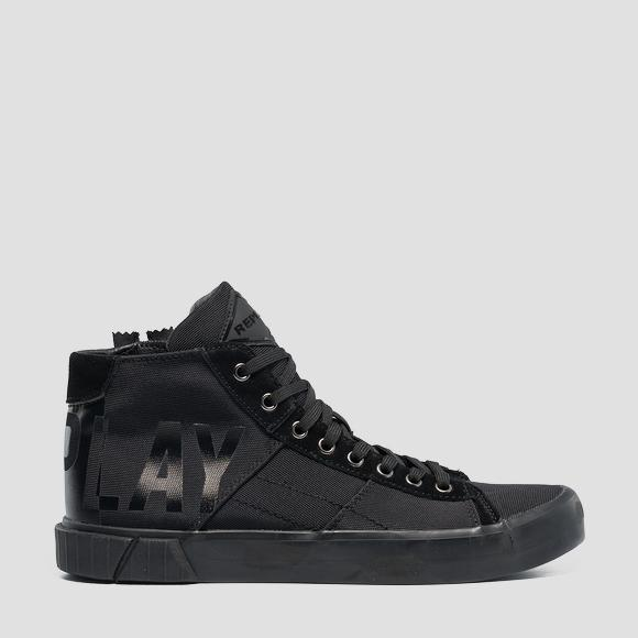 Men's BASKIN lace up mid cut sneakers - Replay GMV76_000_C0025T_562_1