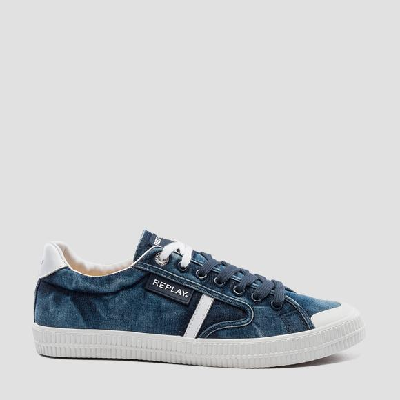 Sneakers homme FOLK en denim à lacets - Replay GMV86_000_C0004T_040_1