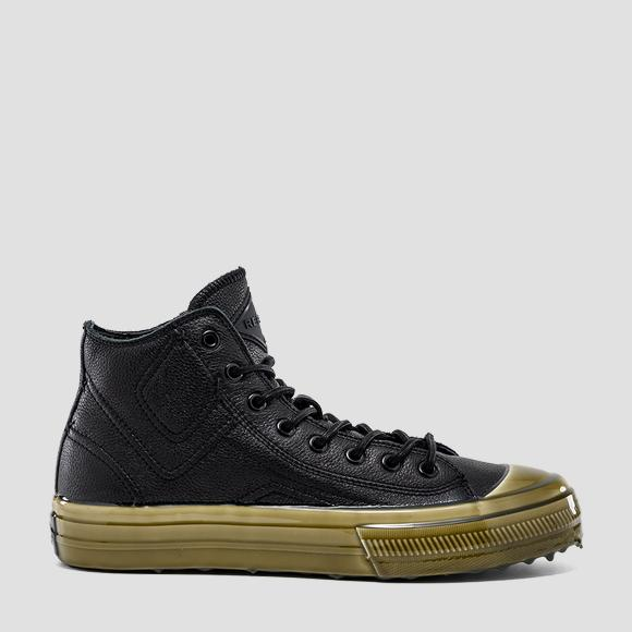 Men's COLLECTOR lace up mid cut leather sneakers - Replay GMV98_000_C0032L_003_1