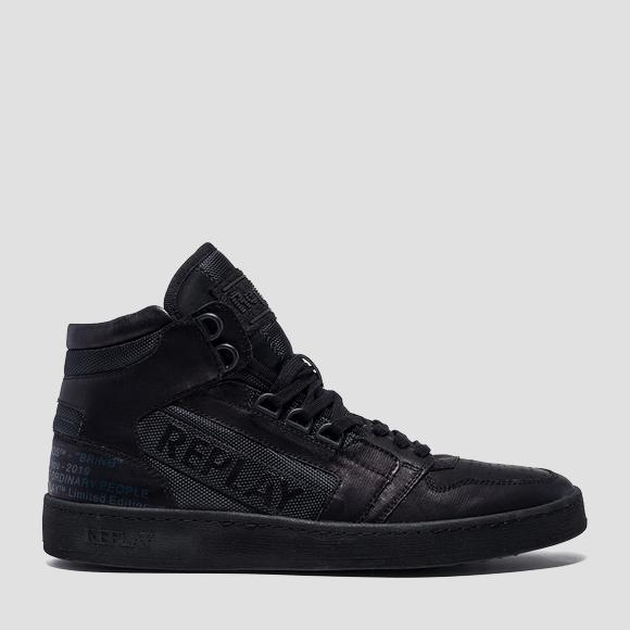 Men's HURDLE lace up mid cut sneakers - Replay GMZ1G_000_C0009S_003_1