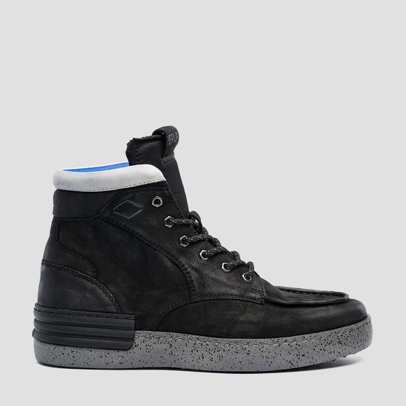 Men's BETIZ lace up mid cut leather sneakers - Replay GMZ1Z_000_C0003L_003_1