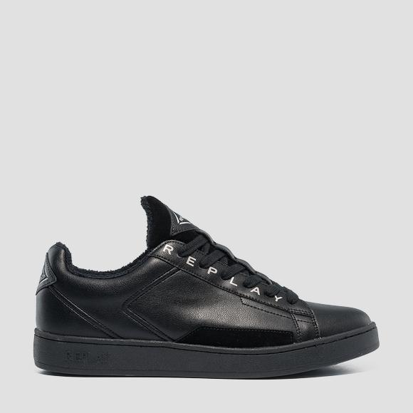 Men's BASIC lace up leather sneakers - Replay GMZ2V_000_C0002L_003_1