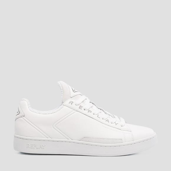 Men's BASIC lace up leather sneakers - Replay GMZ2V_000_C0002L_061_1