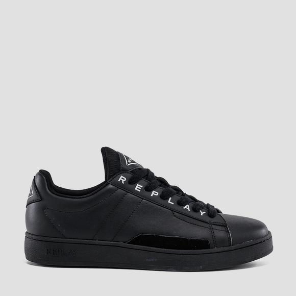 Men's BASE MAN lace up leather sneakers - Replay GMZ2V_000_C0007L_003_1