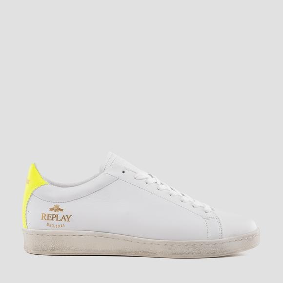 Men's WARBURTON lace up leather sneakers - Replay GMZ3L_000_C0001L_2358_1