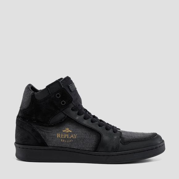 Men's ORMEWOOD lace up mid cut sneakers - Replay GMZ3L_000_C0005T_3013_1