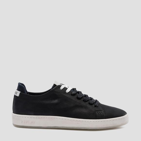 Men's WHARM lace up leather sneakers - Replay GMZ52_000_C0004L_003_1
