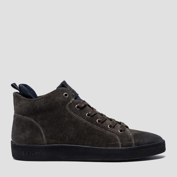 Men's WESTPORT lace up suede mid cut sneakers - Replay GMZ52_000_C0017L_055_1