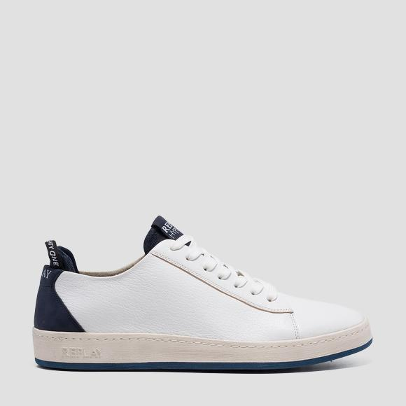 Men's THORN lace up leather sneakers - Replay GMZ52_000_C0020L_122_1