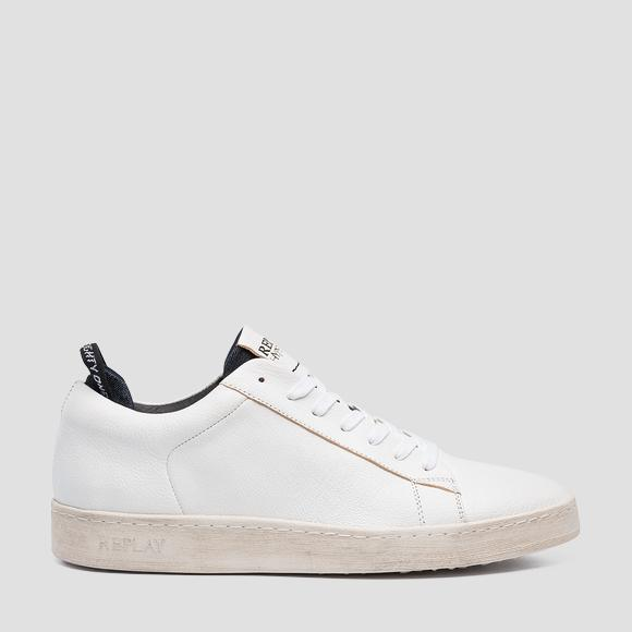 Men's ERIK lace up leather sneakers - Replay GMZ52_000_C0025L_061_1