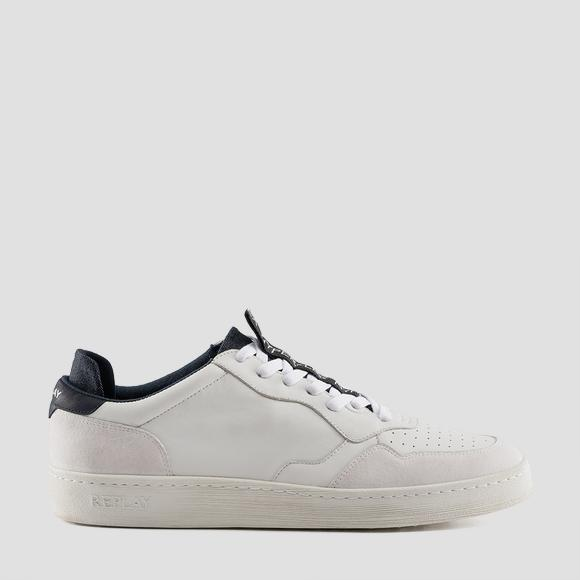 Men's HARDMAN lace up leather sneakers - Replay GMZ52_000_C0030L_808_1