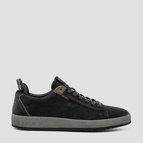 Men's LAYTON lace up leather sneakers - Replay GMZ52_000_C0032L_1659_1