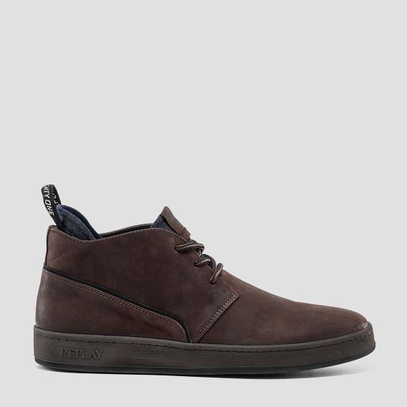 Men's FIVEHEAD lace up mid cut leather shoes - Replay GMZ52_000_C0033L_090_1