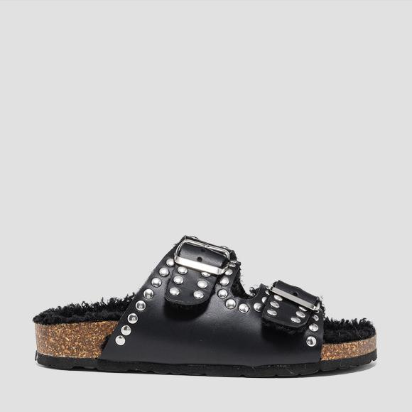 Women's WHYCOMBE leather mules - Replay GWF2A_000_C0003L_003_1