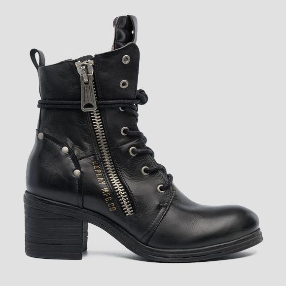 Women's MARAL lace up leather boots - Replay GWN44_000_C0007L_003_1