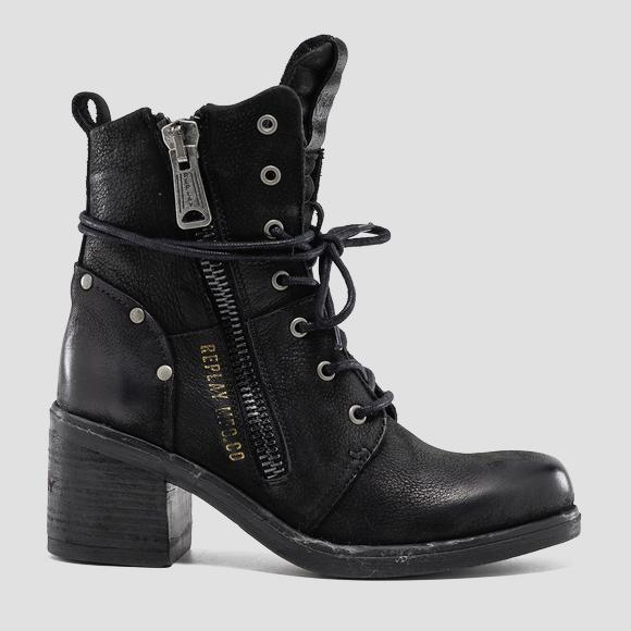 Women's FIRESTAR lace up leather boots - Replay GWN47_000_C0009L_003_1