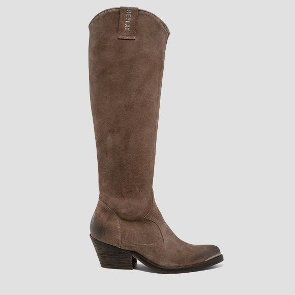 Women's WADSLEY leather high boots - Replay GWN64_000_C0017L_057_1