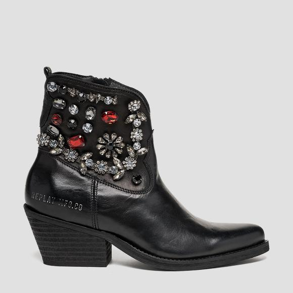 Women's DIAMOND leather ankle boots - Replay GWN64_000_C0023L_003_1