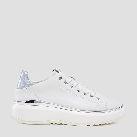 Women's ANNAPOSE lace up leather sneakers - Replay GWS3C_000_C0022L_061_1
